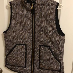 J Crew quilted vest size M